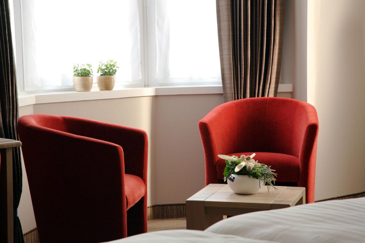 detail kamer hotel ambassador de panne kust